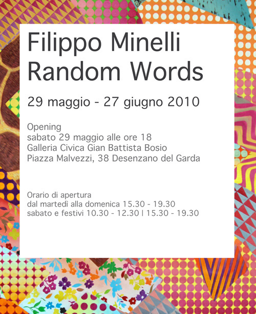 RANDOM WORDS SOLO SHOW